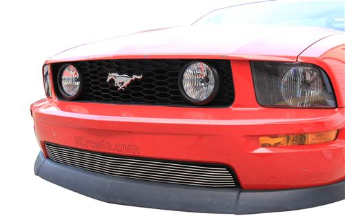 Mustang GT/V6 Lower Polished Billet Grille (05-09) - Picture of Mustang GT/V6 Lower Polished Billet Grille (05-09)