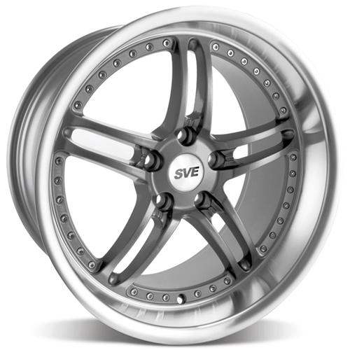 SVE Mustang Series 2 Wheel - 18x10 Gun Metal w/ Polished Lip (94-04) - SVE Mustang Series 2 Wheel - 18x10 Gun Metal w/ Polished Lip (94-04)