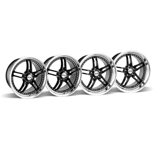 Mustang SVE Series 2 Wheel Kit -18x9/10 Black w/ Polished Lip (94-04)