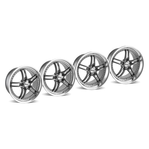 SVE Mustang Series 2 Wheel Kit -18x9/10 Gun Metal w/ Polished Lip (94-04) - SVE Mustang Series 2 Wheel Kit -18x9/10 Gun Metal w/ Polished Lip (94-04)