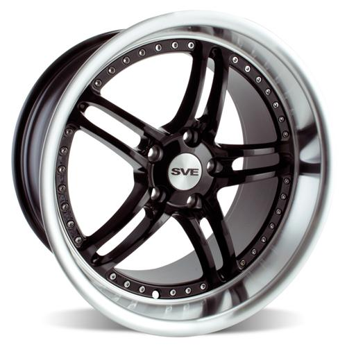 2005-13 Mustang SVE Series 2 Wheel Gloss Black with Mirror Lip