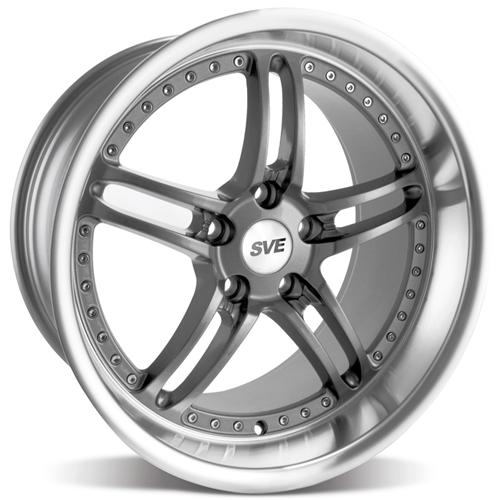 "SVE Mustang Series 2 Wheel - 19x10"" (05-14) Gun Metal w/ Polished Lip - SVE Mustang Series 2 Wheel"