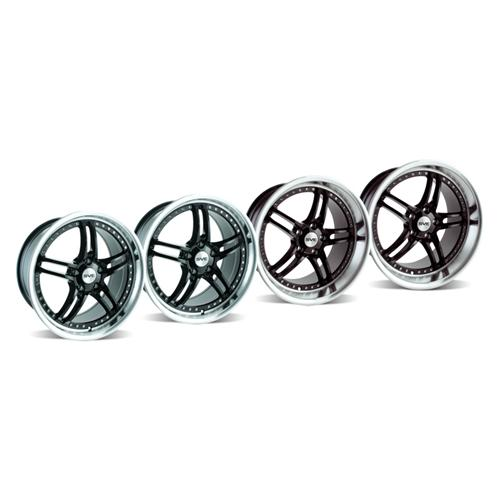 2005-13 Mustang SVE Series 2 Wheel Kit Gloss Black with Mirror Lip - 2005-13 Mustang SVE Series 2 Wheel Kit Gloss Black with Mirror Lip
