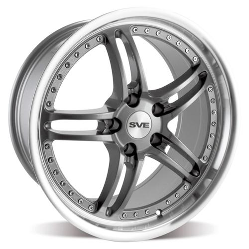 "SVE Mustang Series 2 Wheel - 19x9"" Gun Metal w/ Polished Lip (05-14)"