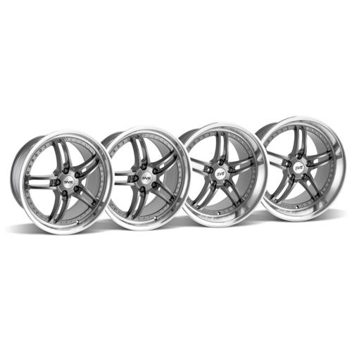SVE Mustang Series 2 Wheel Kit - 19x9/10 Gun Metal w/ Polished Lip (05-14)