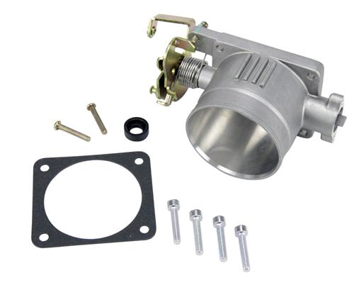 96-04 Mustang SVE Throttle Body 75mm Satin Finish - Picture of 96-04 Mustang SVE Throttle Body 75mm Satin Finish