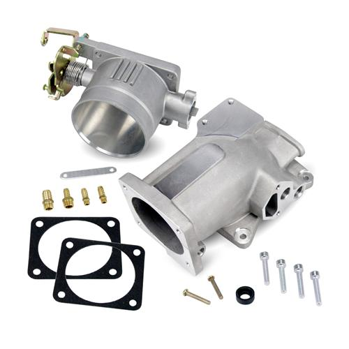 SVE Mustang 75mm Throttle Body & Plenum Kit Satin (96-04) - SVE Mustang 75mm Throttle Body & Plenum Kit Satin (96-04)