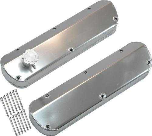 SVE Mustang Fabricated Aluminum Valve Covers Brushed (86-93) 5.0L