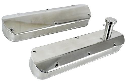 1986-93 Mustang Polished Fabricated Aluminum Valve Covers - 1986-93 Mustang Polished Fabricated Aluminum Valve Covers