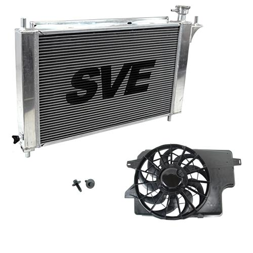 94-95 MUSTANG 5.0L ALUMINUM RADIATOR, & FACTORY ELECTRIC FAN, Fits Both Manual & Automatic Applications