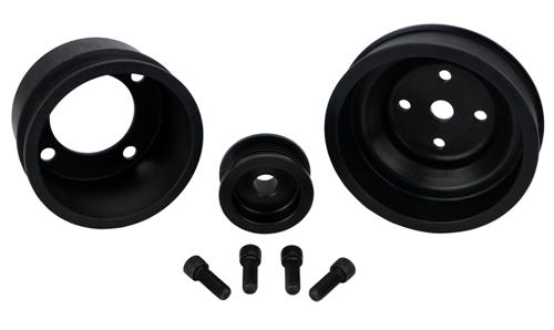 1979-93 Mustang SVE Black Aluminum Underdrive Pulley Kit - picture of 1979-93 Mustang SVE Black Aluminum Underdrive Pulley Kit