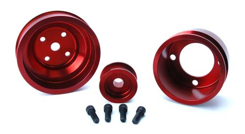 1979-93 Mustang SVE Red Aluminum Underdrive Pulley Kit
