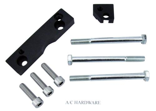 SVE Mustang Coyote Street Accessory Bracket Kit Black (11-14) 5.0L - Picture of Hardware
