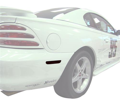 Mustang Smoked Rear Bumper Reflector Tint (94-98) - Picture of Mustang Smoked Rear Bumper Reflector Tint (94-98)
