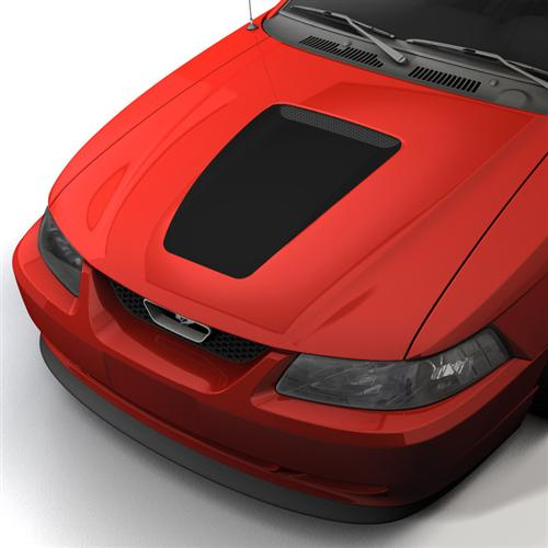 1999-04 Mustang 35th Anniversary style Hood Decal, Gloss Black   This is replacing GE-N508X01GT. Feel free to use this picture and description, as long as there is nothing related to graphics express on it.
