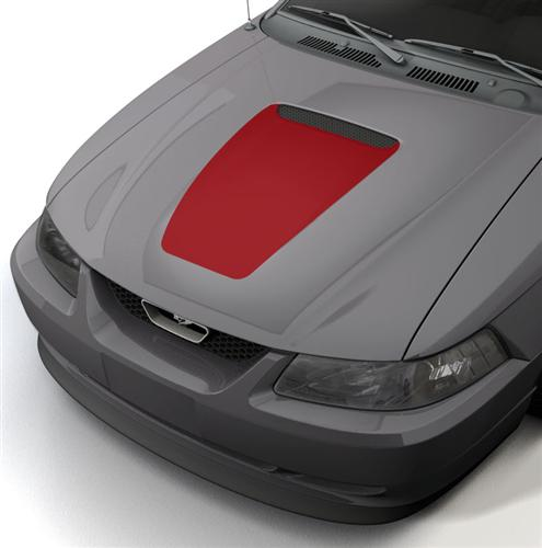 SVE Mustang 35th Anniversary Style Hood Decal Red (99-04) - Picture of SVE Mustang 35th Anniversary Style Hood Decal Red (99-04)