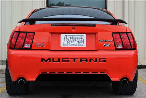 Mustang GT/V6 Rear Lower Bumper Blackout Gloss Black (99-04)