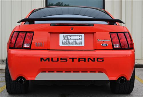 Mustang GT/V6 Rear Lower Bumper Blackout Silver (99-04)