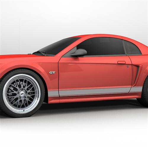 1999-2004 Mustang Rocker Stripes, No Logo Silver  Get with Oliver for Picture - Picture of 1999-2004 Mustang Rocker Stripes, No Logo Silver