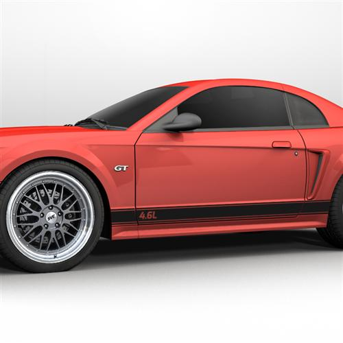 1999-2004 Mustang Rocker Stripes, 4.6 Logo Gloss Black  Get with Oliver for Picture - Picture of 1999-2004 Mustang Rocker Stripes, 4.6 Logo Gloss Black