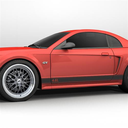 1999-2004 Mustang Rocker Stripes, 4.6 Logo Matte Black  Get with Oliver for Picture - Picture of 1999-2004 Mustang Rocker Stripes, 4.6 Logo Matte Black