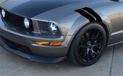 Mustang  Fender Hash Marks, LH Gloss Black (79-14) - Picture of Mustang  Fender Hash Marks, LH Gloss Black (79-14)