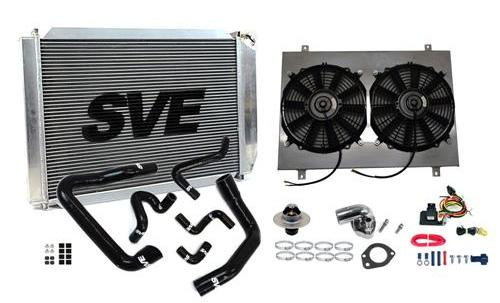 SVE Mustang 5.0L Complete Aluminum Radiator Upgrade Kit for Ma (86-93) - Picture of SVE Mustang 5.0L Complete Aluminum Radiator Upgrade Kit for Ma (86-93)