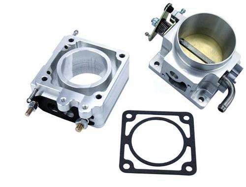 SVE Mustang 70mm Throttle Body & EGR Spacer Polished (86-93) 5.0L - Picture of SVE Mustang 70mm Throttle Body & EGR Spacer Polished (86-93) 5.0L