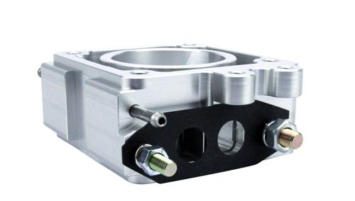 SVE Mustang 70mm EGR Spacer Polished (86-93) 5.0L - Picture of SVE Mustang 70mm EGR Spacer Polished (86-93) 5.0L
