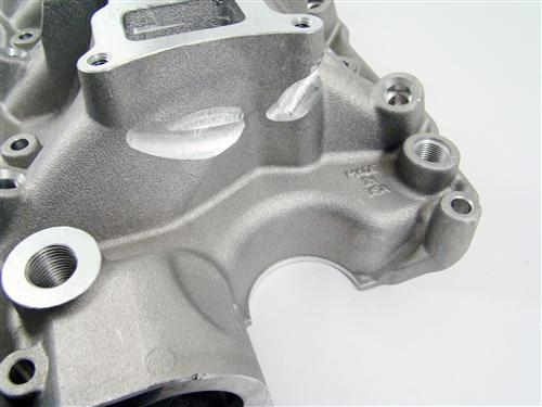 "86-95 MUSTANG 5.0L SILVER TRICK FLOW ""R"" SERIES INTAKE MANIFOLD WITH 75MM THROTTLE OPENING"