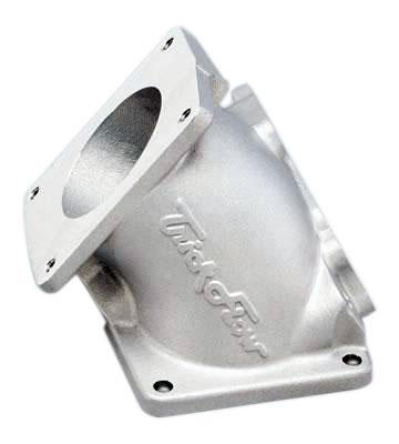 1994-95 Mustang 5.0L GT Silver Trick Flow 75mm Throttle Body Adapter - picture of 1994-95 Mustang 5.0L GT Silver Trick Flow 75mm Throttle Body Adapter