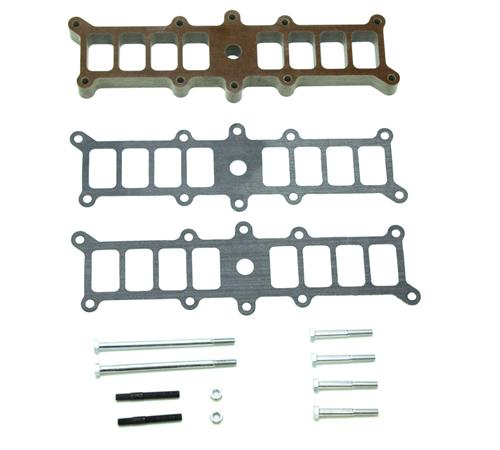"1986-95 Mustang Trick Flow 5.0L 1"" Phenolic Intake Spacer for Edelbrock Performer Intake - 1986-1995 Trickflow Intake Gasket Kit Photo"