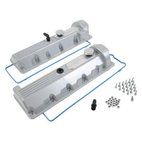 Trick Flow Mustang Aluminum Valve Covers, 13/14 Bolt Windsor Silver 4.6 2V