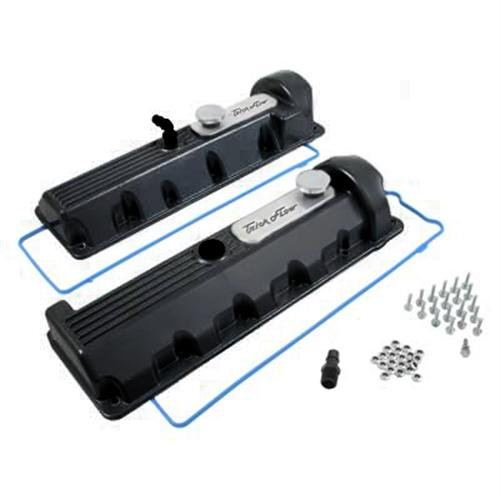 Trick Flow Aluminum Valve Covers, 13/14 Bolt Windsor Black 4.6 2V 51811802