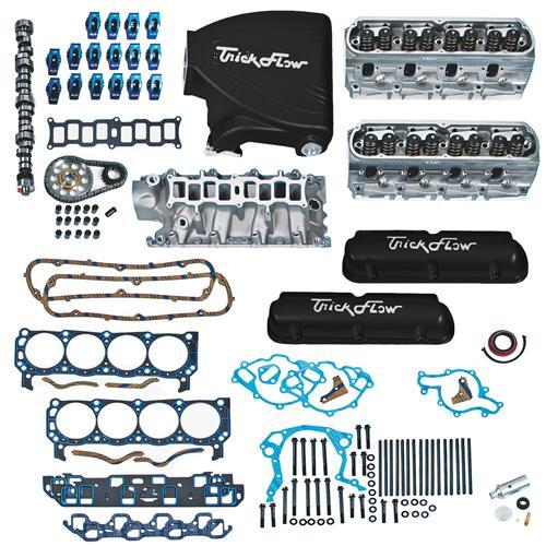 Trick Flow Mustang Top End Engine Kit, w/ Street Burner Intake Black 5.0L - Picture of Trick Flow Mustang Top End Engine Kit, w/ Street Burner Intake Black 5.0L