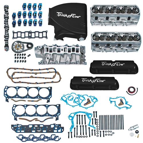 1987-93 Mustang 5.0L Top End Engine Kit with Black Trick Flow Track Heat Intake, Twisted Wedge Heads And Trick Flow Stage 1 Camshaft