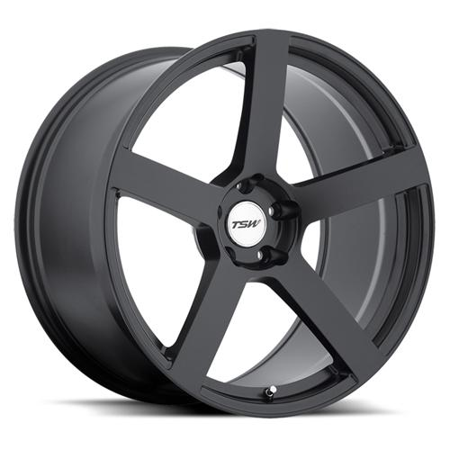 2005-14 Mustang TSW Panorama Wheel Matte Black 19x8.5 - 2005-14 Mustang TSW Panorama Wheel Matte Black 19x8.5