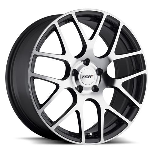 Mustang TSW Nurburgring Wheel - 19x8.5 Gunmetal w/ Mirror Cut (05-15)