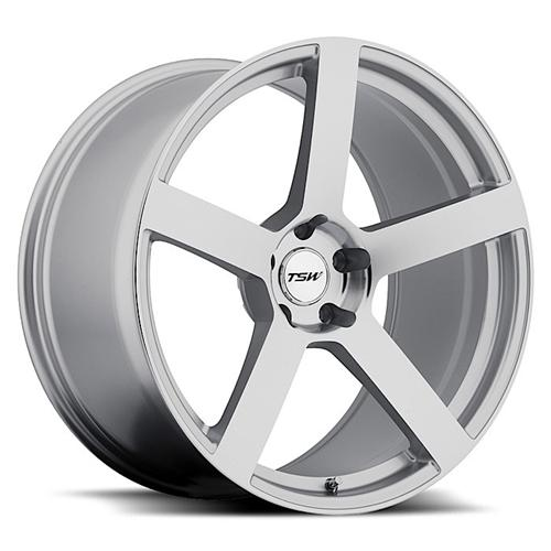 Mustang TSW Panorama Wheel - 20x10 Silver w/ Mirror Cut (05-15)