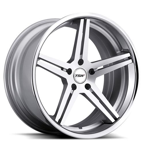 Mustang TSW Mirabeau Wheel - 20x8.5 Silver w/ Machine Face (05-15)