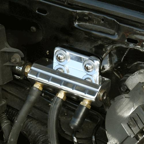 UPR Mustang Billet Vacuum Block Polished (86-93)