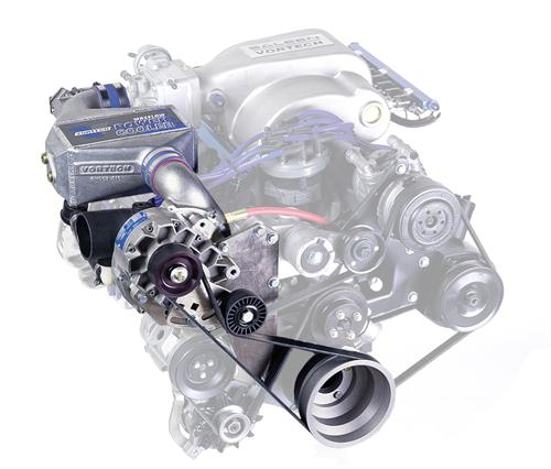 Vortech Mustang Supercharger Kit V-3 SI-Trim W/ Charge Cooler Satin (86-93) 5.0L 4FA218-070L
