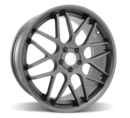 Mustang Downforce Wheel Kit - 20x8.5/10 Graphite (05-14) - Picture of Mustang Downforce Wheel Kit - 20x8.5/10 Graphite (05-14)