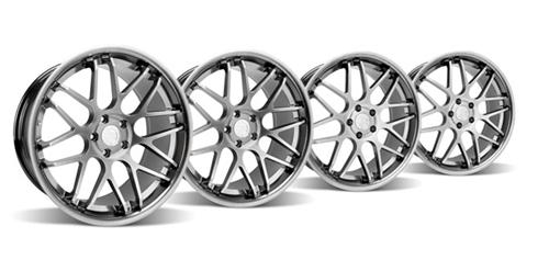 Mustang Downforce Wheel Kit - 20x8.5/10 Platinum (05-14) - Picture of Mustang Downforce Wheel Kit - 20x8.5/10 Platinum (05-14)