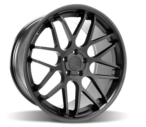 Mustang Downforce Wheel Kit - 20x8.5/10 Matte Black (05-14) - Picture of Mustang Downforce Wheel Kit - 20x8.5/10 Matte Black (05-14)