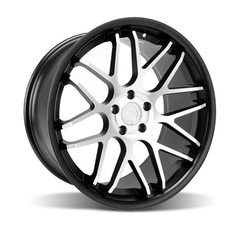 Mustang Downforce Wheel Kit - 20x8.5/10 Matte Black w/ Machined Face (05-14)