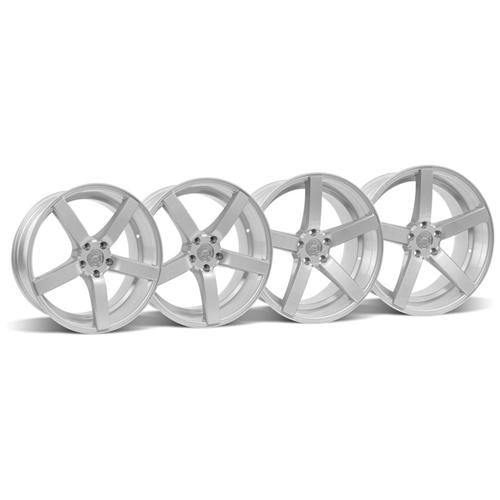 Mustang DF5 Wheel Kit - 20x8.5/10 Silver (05-15)
