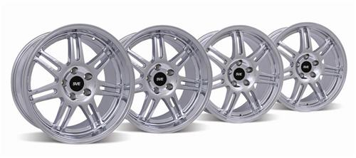 SVE Mustang Anniversary Wheel Kit - 17x9/10 Chrome (94-04) - Picture of SVE Mustang Anniversary Wheel Kit - 17x9/10 Chrome (94-04)