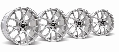 1994-04 Mustang Silver SVE Drift Wheel Kit 18X9 And 18X10 - Picture of 1994-04 Mustang Silver SVE Drift Wheel Kit 18X9 And 18X10