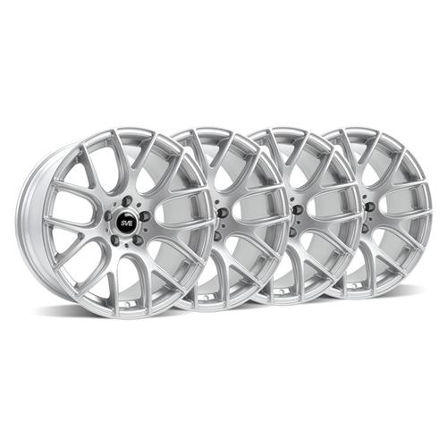 SVE Mustang Drift Wheel Kit - 18x9/10 Silver (94-04) - SVE Mustang Drift Wheel Kit - 18x9/10 Silver (94-04)